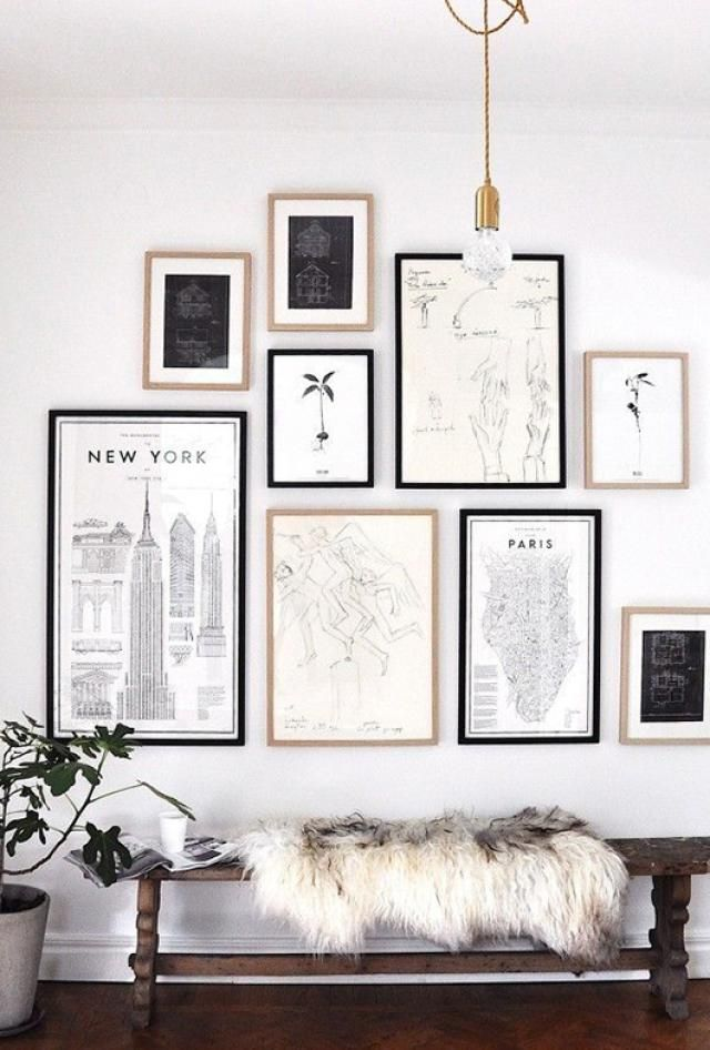 bite size design tips how to create a gallery wall. Black Bedroom Furniture Sets. Home Design Ideas