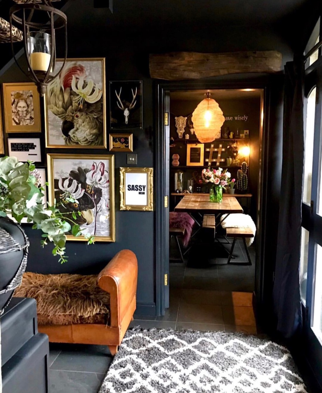 Eclectic Home Tour: Eclectic, Dark & Glamorous Home Tour